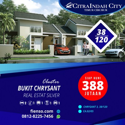 Chrysant 38/120 Siap Huni, CitraIndah City