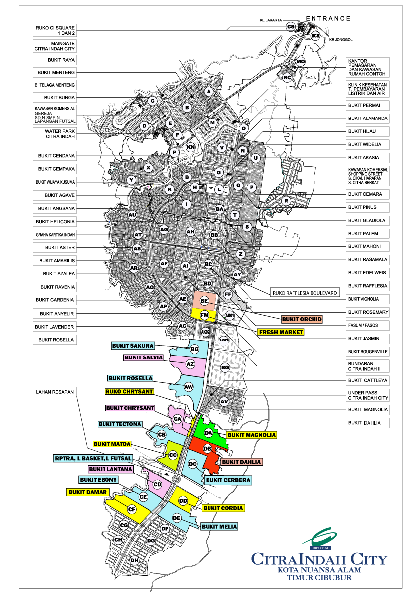 master plan citraindah city
